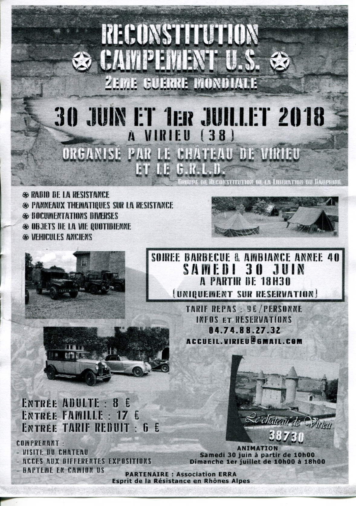 Manifestation au chateau de Virieu